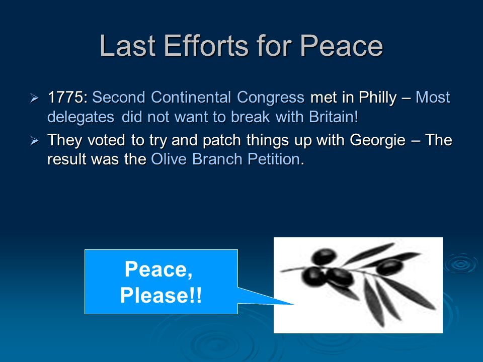 Last Efforts for Peace Peace, Please!!