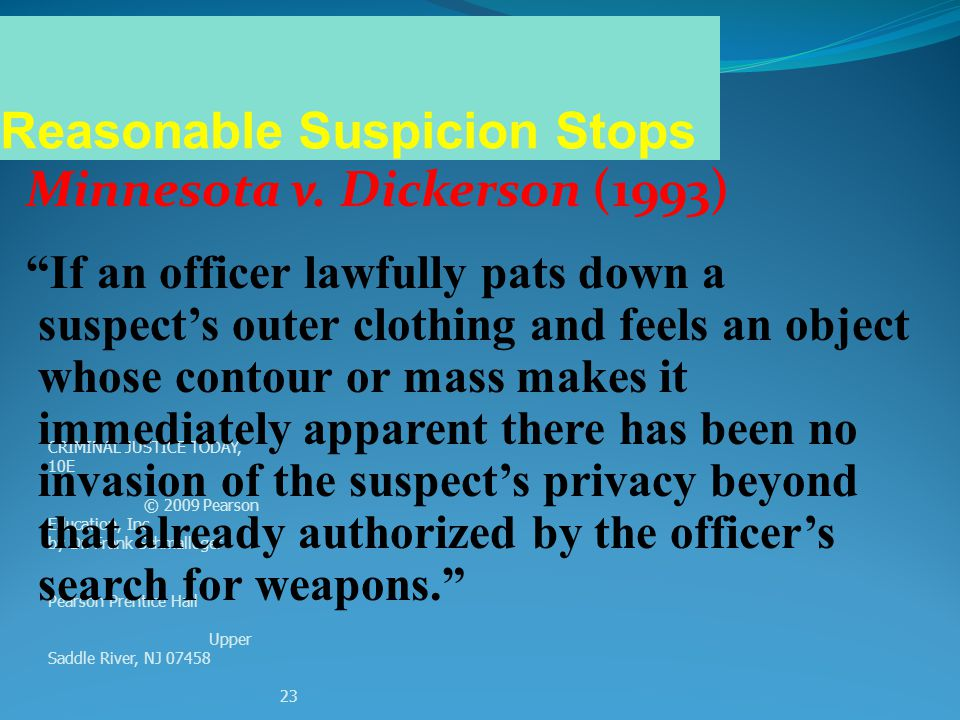Reasonable Suspicion Stops