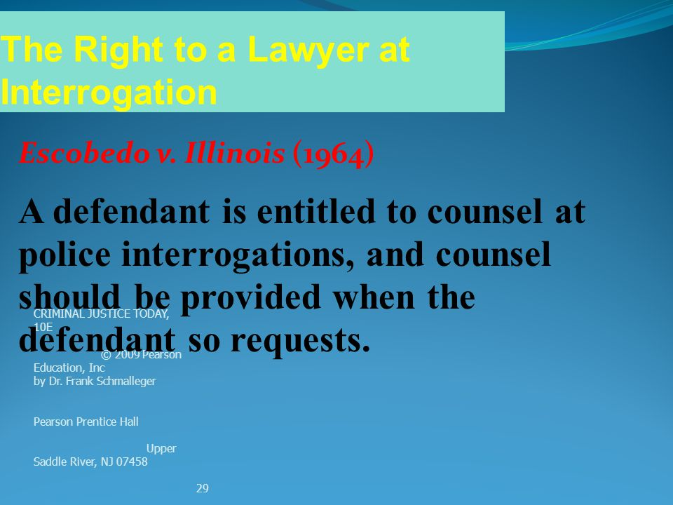 The Right to a Lawyer at Interrogation