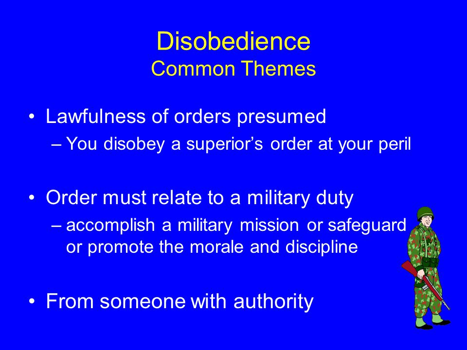 Disobedience Common Themes