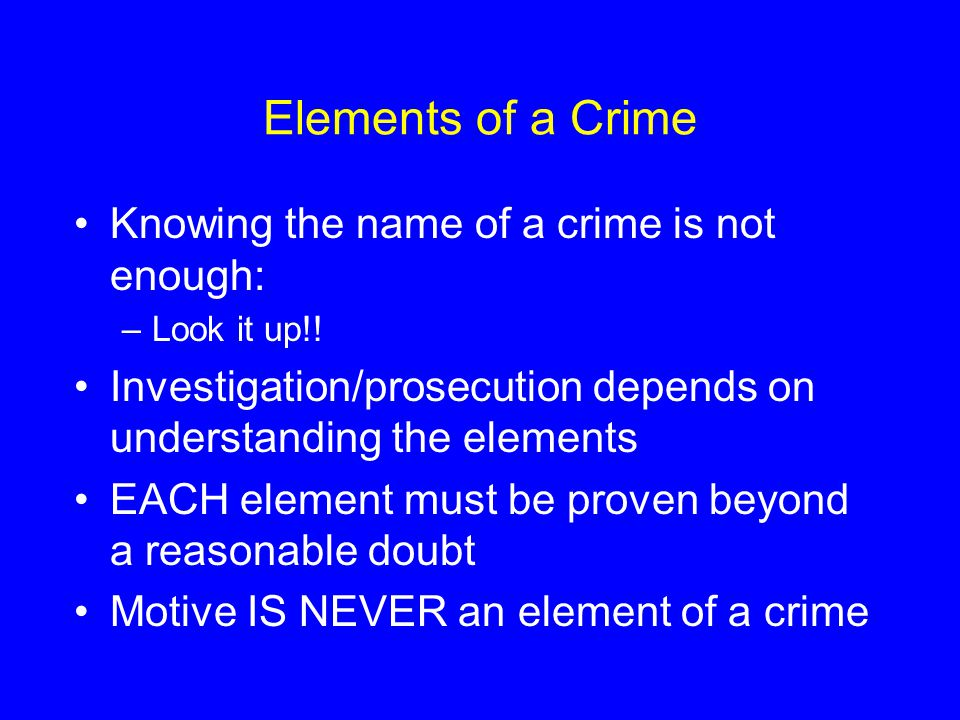 the elements of crime Elements of assault to rise to the level of an actionable offense (in which the plaintiff may file suit), two main elements must be present: which also is a crime more than just words words, without an act, cannot constitute an assault.
