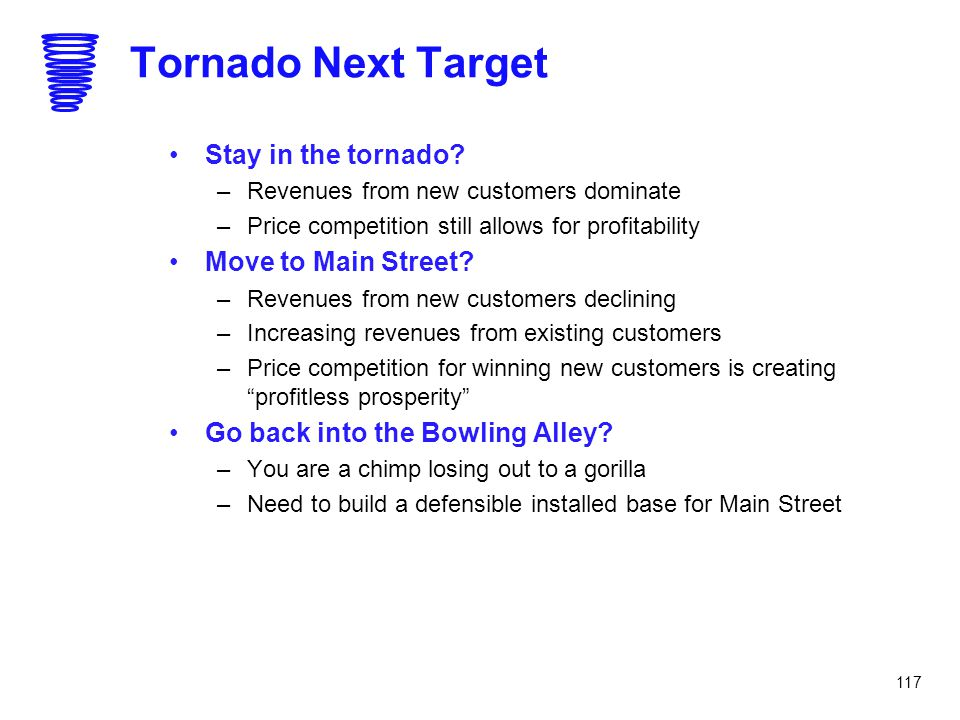 Tornado Next Target Stay in the tornado Move to Main Street
