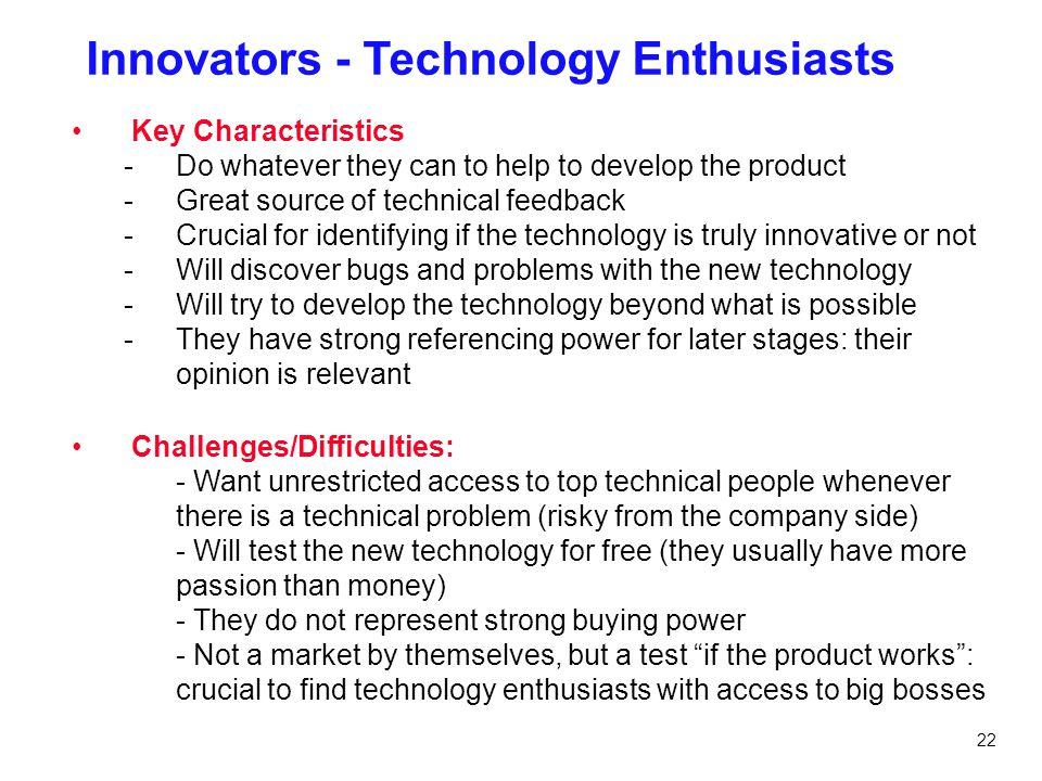 Innovators - Technology Enthusiasts