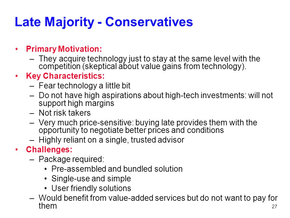 Late Majority - Conservatives