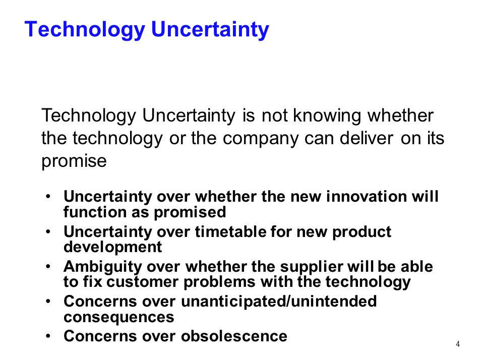 Technology Uncertainty