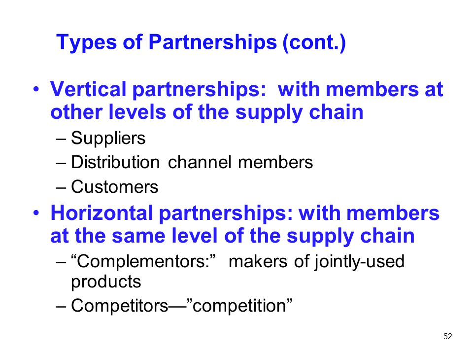 Types of Partnerships (cont.)