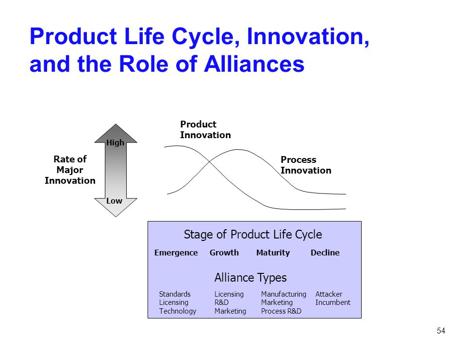 Product Life Cycle, Innovation, and the Role of Alliances