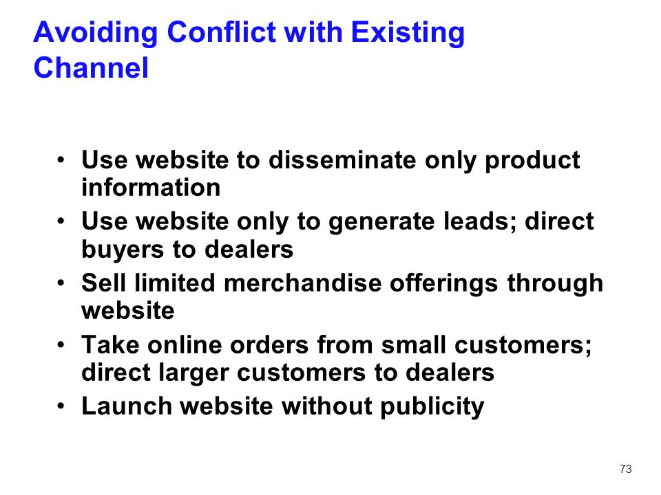Avoiding Conflict with Existing Channel