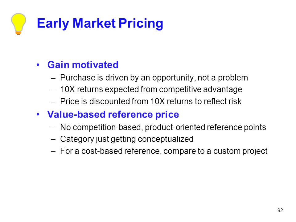 Early Market Pricing Gain motivated Value-based reference price