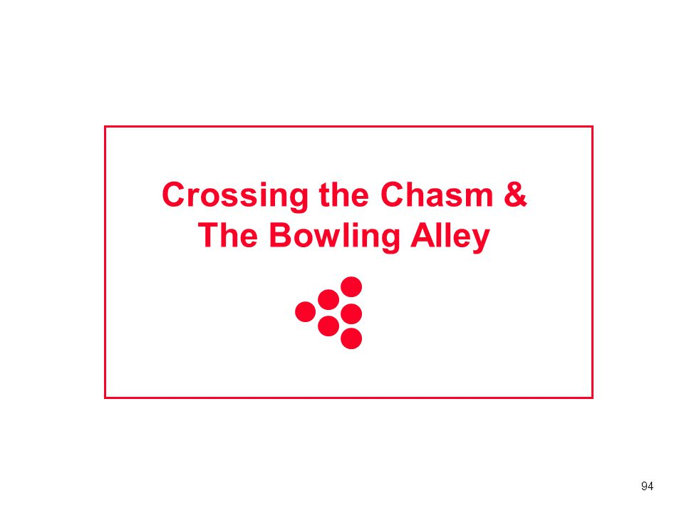 Crossing the Chasm & The Bowling Alley