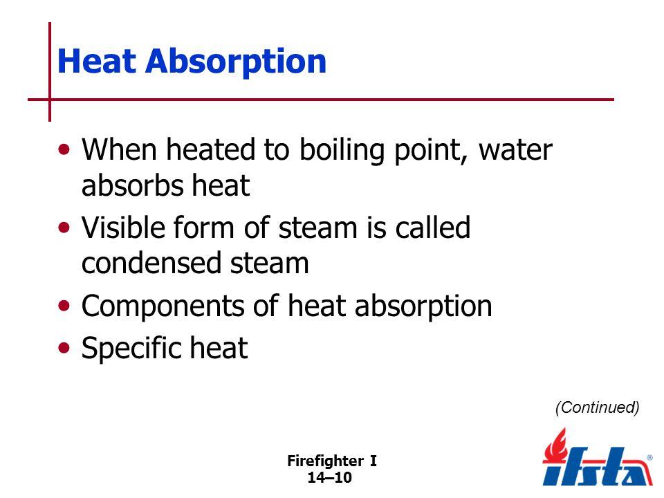 Heat Absorption Latent heat of vaporization Expansion capability