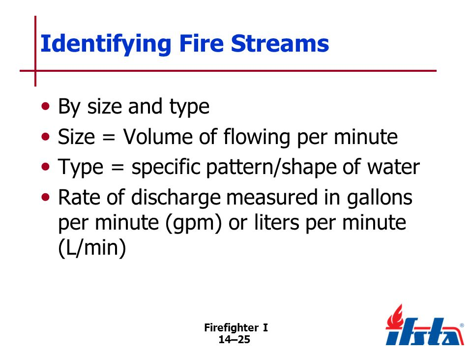 Fire Stream Classifications