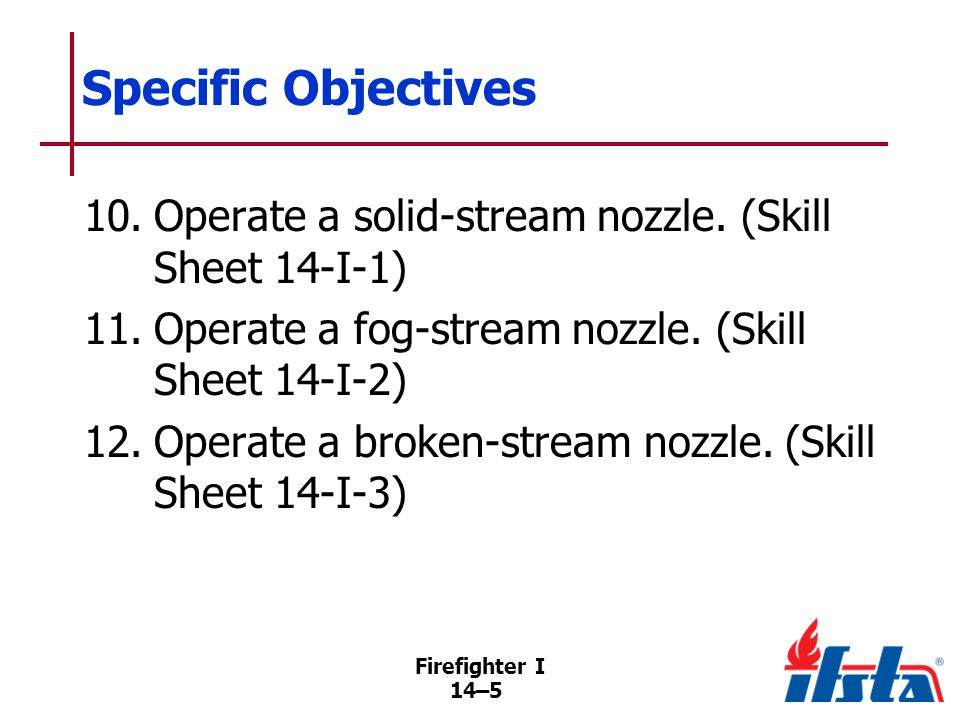 DISCUSSION QUESTION What is a fire stream Firefighter I
