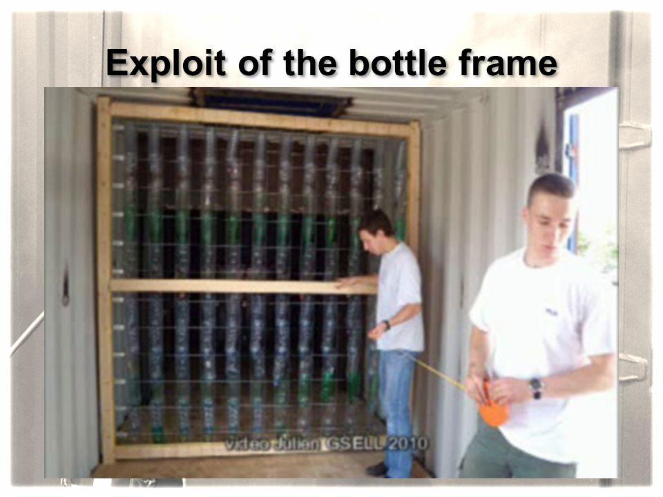 Exploit of the bottle frame