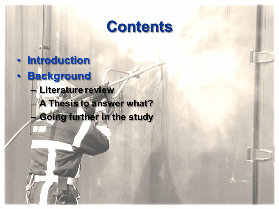 Contents Introduction Background Literature review