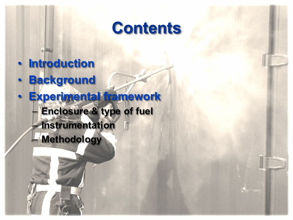 Contents Introduction Background Experimental framework