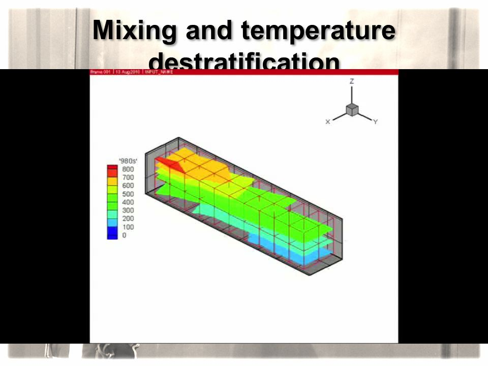 Mixing and temperature destratification