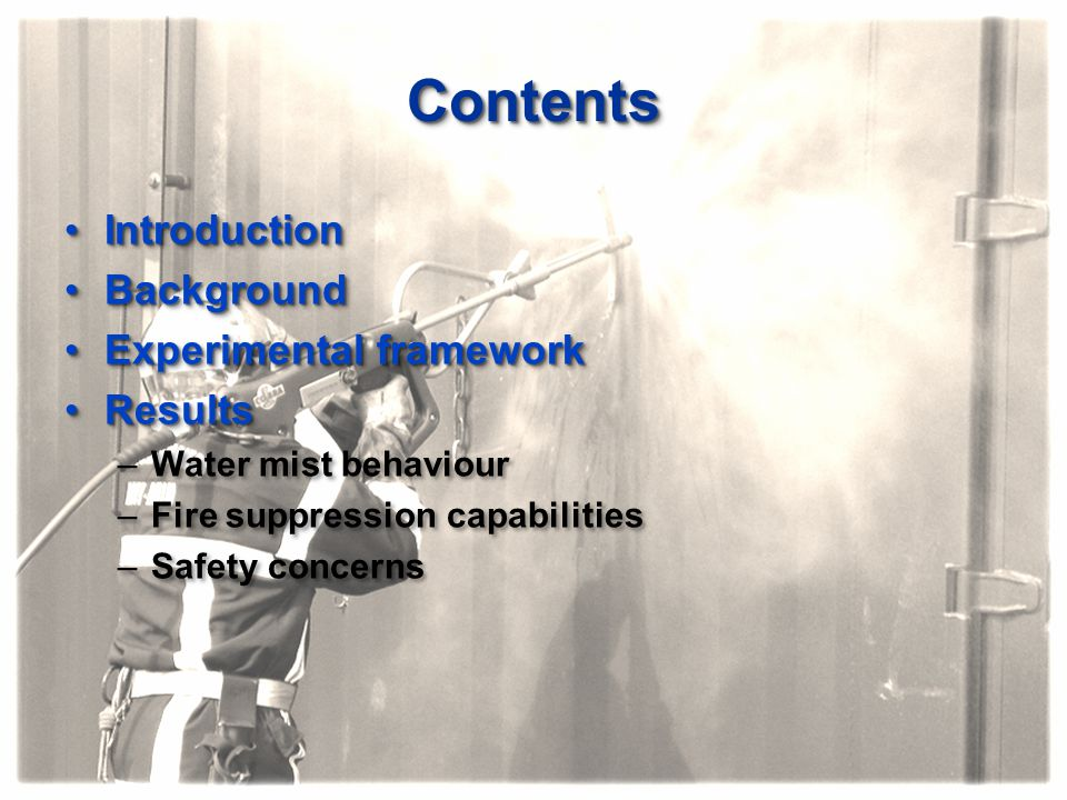 Contents Introduction Background Experimental framework Results