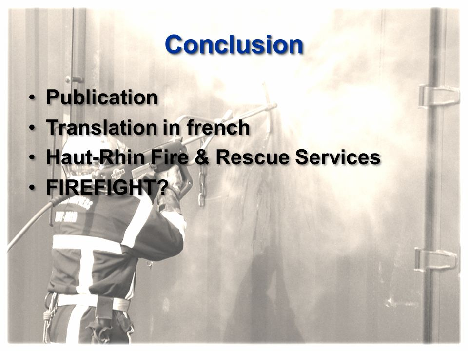 Conclusion Publication Translation in french