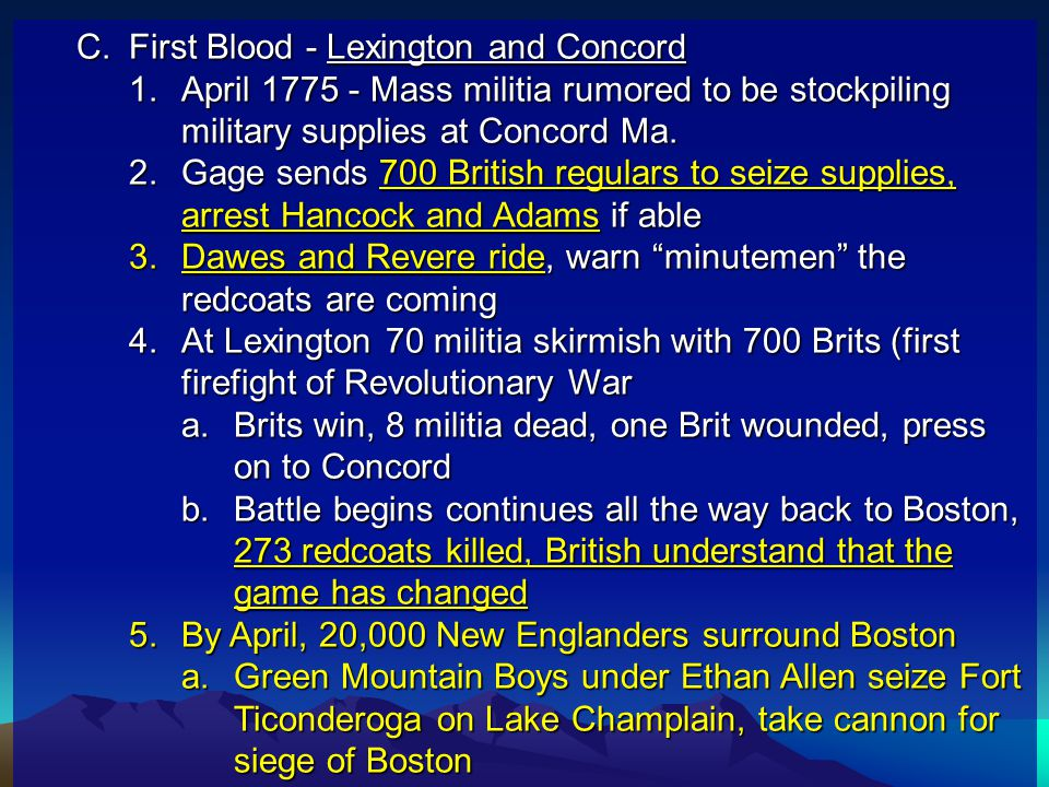 First Blood - Lexington and Concord