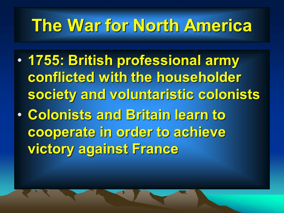 The War for North America
