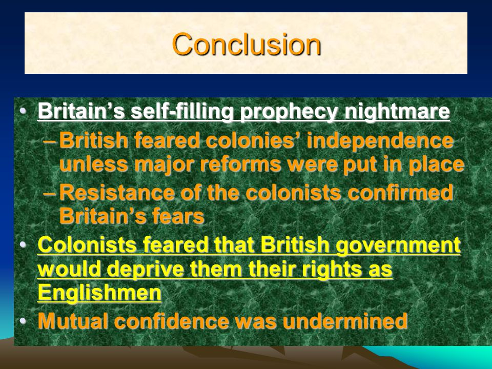 Conclusion Britain's self-filling prophecy nightmare