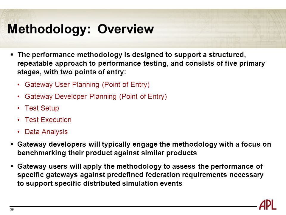 Methodology: Overview