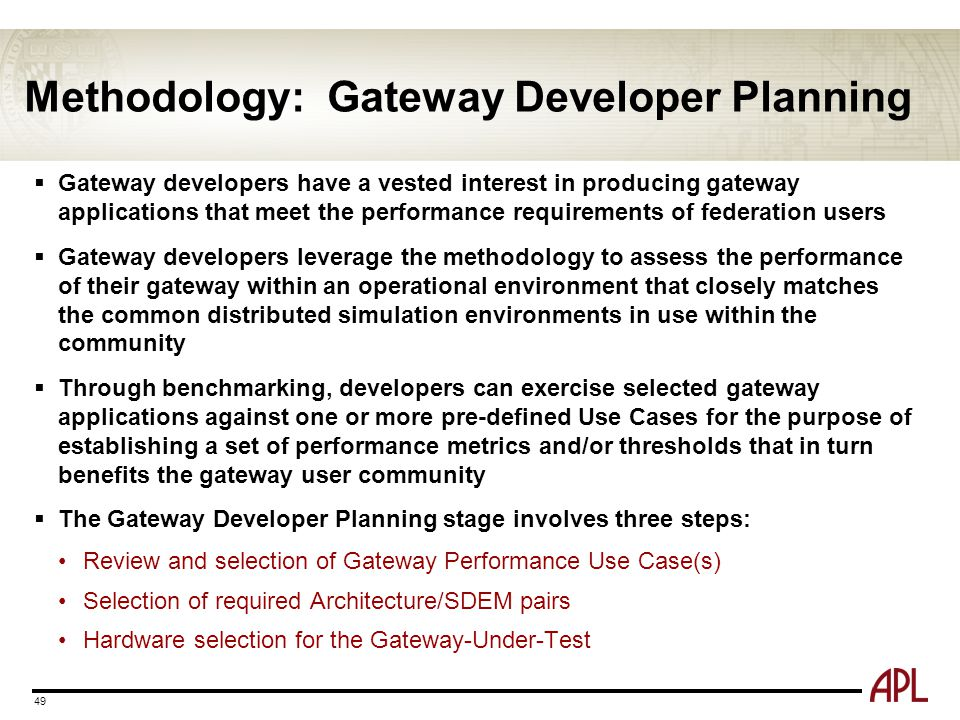 Methodology: Gateway Developer Planning