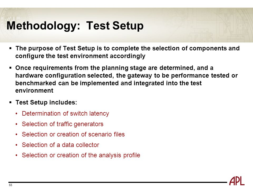 Methodology: Test Setup
