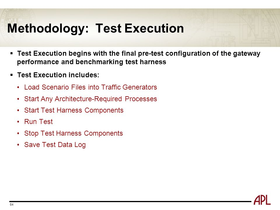 Methodology: Test Execution