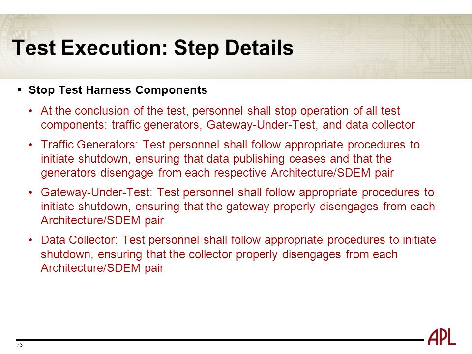 Test Execution: Step Details