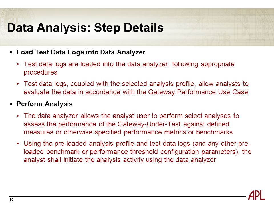 Data Analysis: Step Details