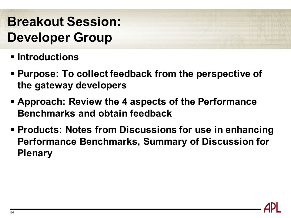 Breakout Session: Developer Group