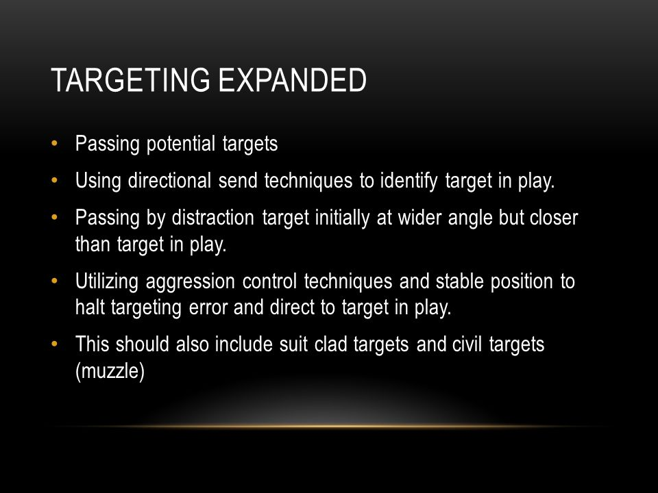 Targeting expanded Passing potential targets