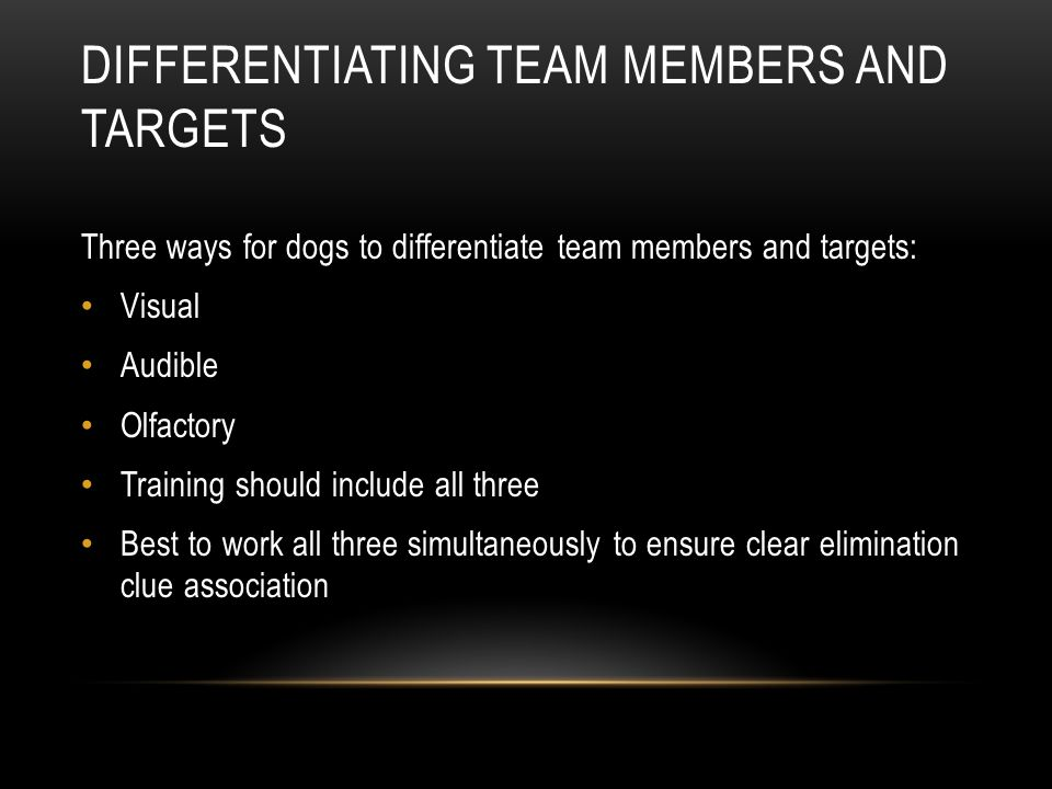Differentiating Team Members and Targets