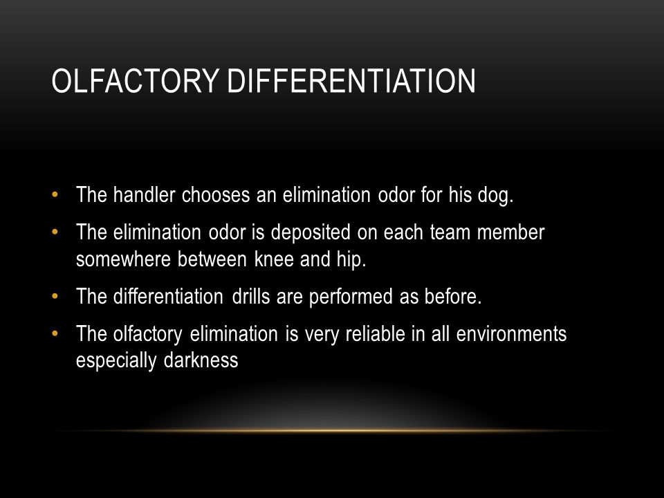 Olfactory Differentiation