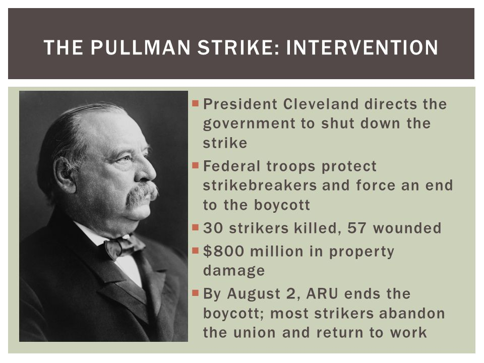 The pullman strike: intervention