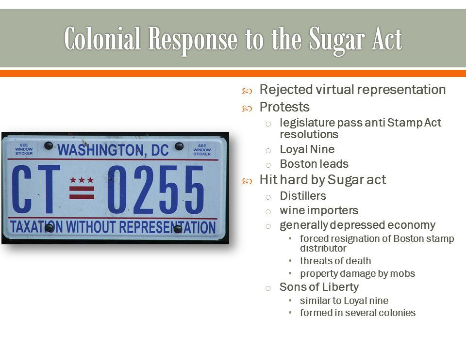 Colonial Response to the Sugar Act