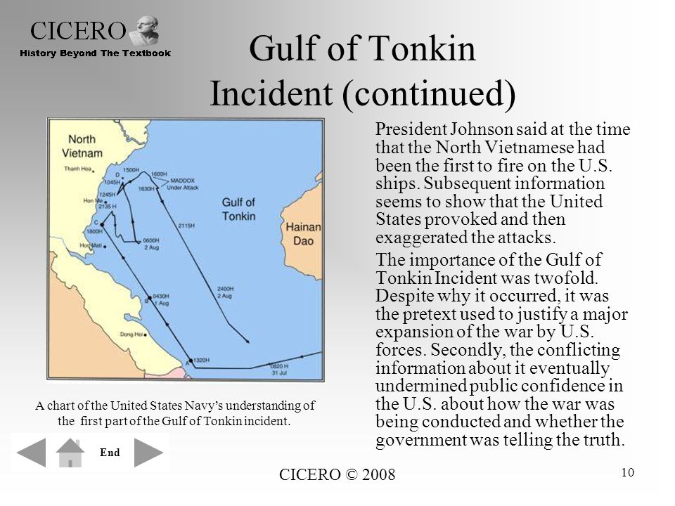 Gulf of Tonkin Incident (continued)