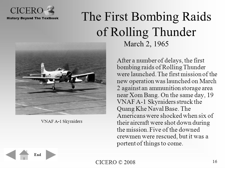 The First Bombing Raids of Rolling Thunder March 2, 1965