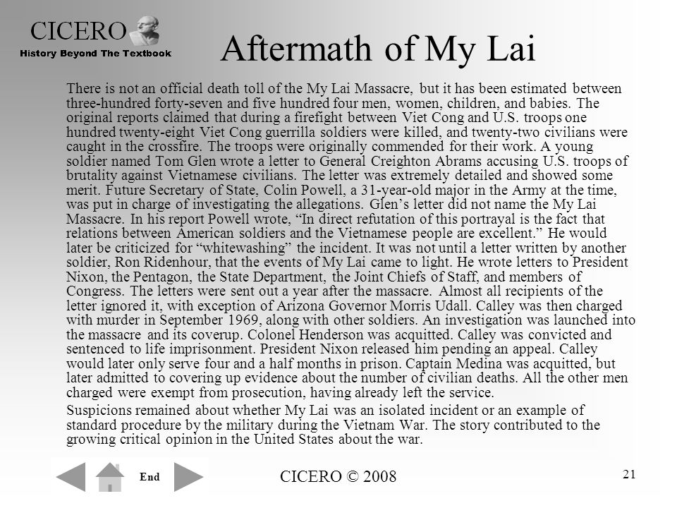 Aftermath of My Lai CICERO © 2008