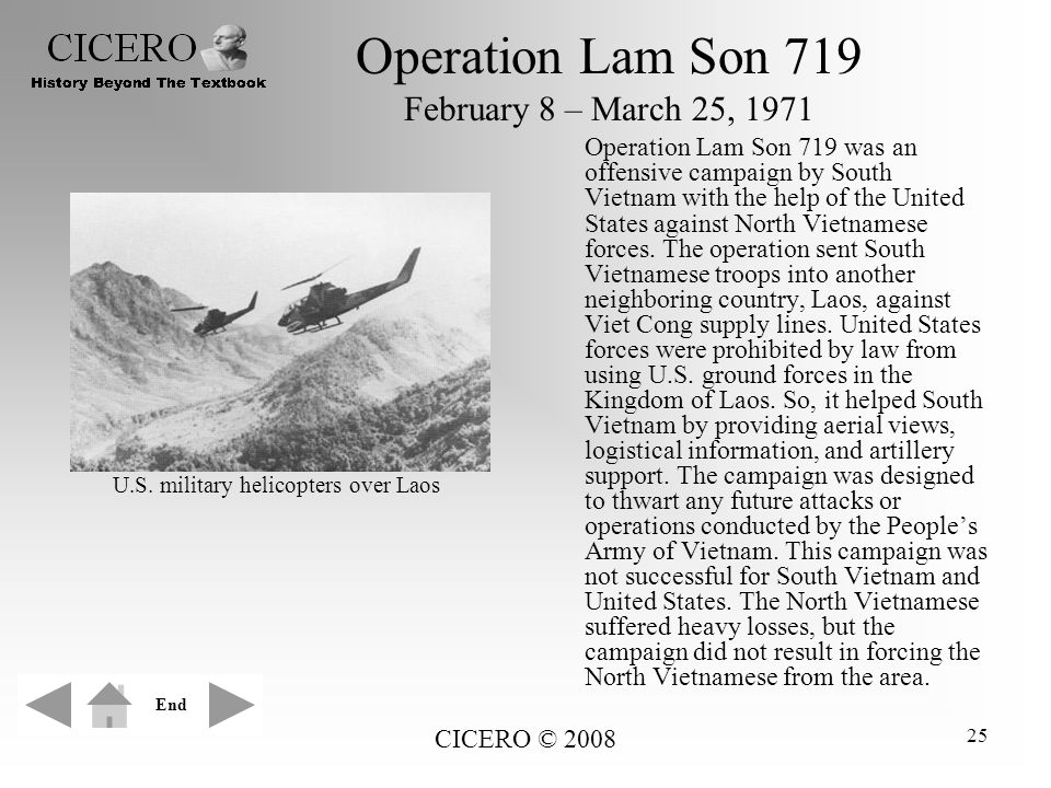 Operation Lam Son 719 February 8 – March 25, 1971