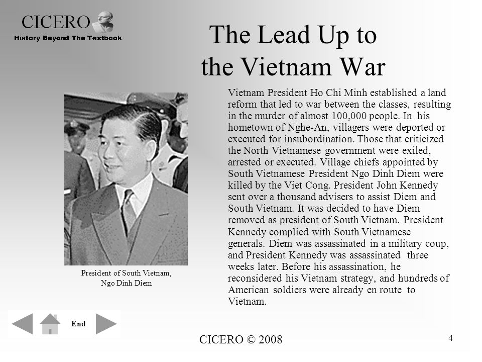The Lead Up to the Vietnam War