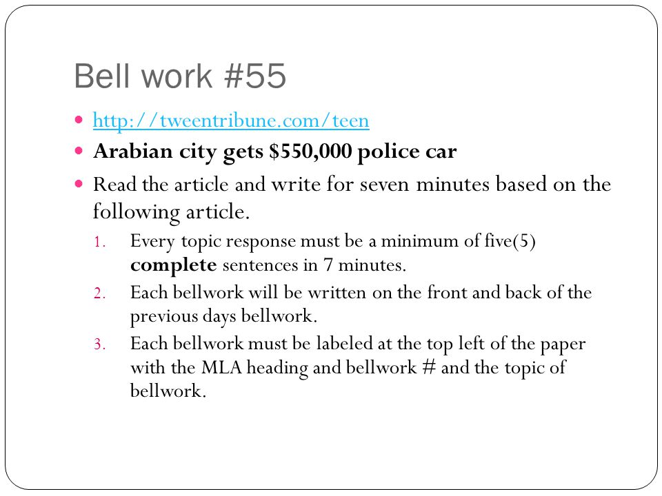Bell work #55 http://tweentribune.com/teen