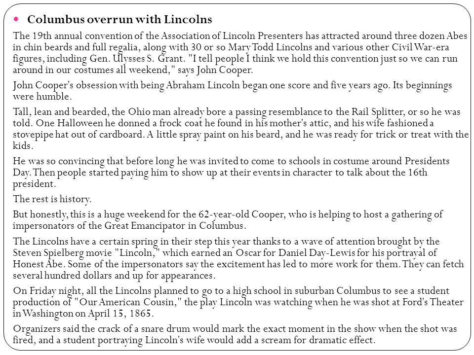 Columbus overrun with Lincolns