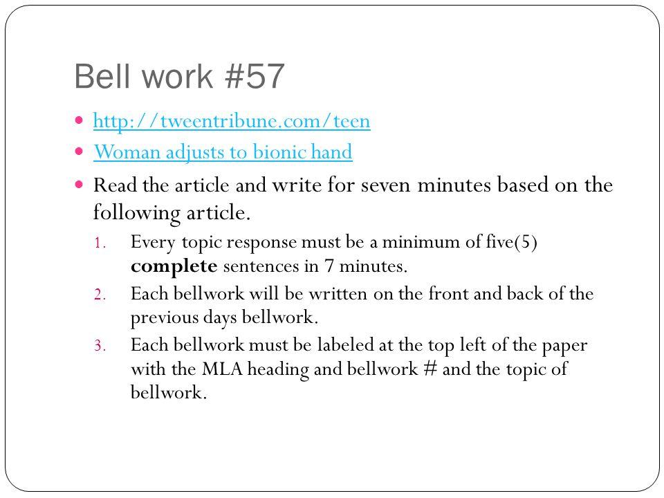 Bell work #57 http://tweentribune.com/teen