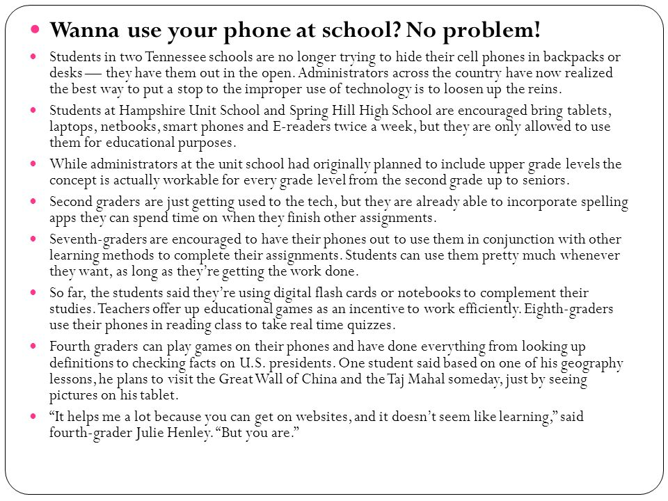 Wanna use your phone at school No problem!