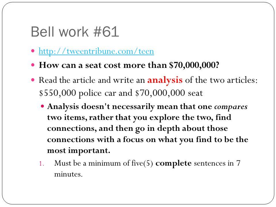 Bell work #61 http://tweentribune.com/teen