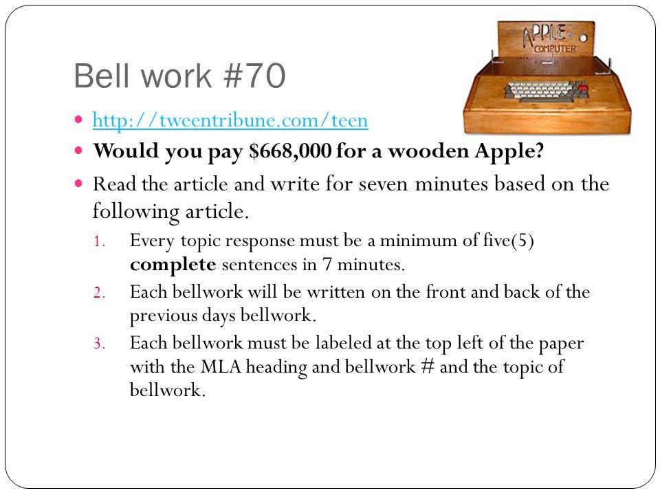 Bell work #70 http://tweentribune.com/teen