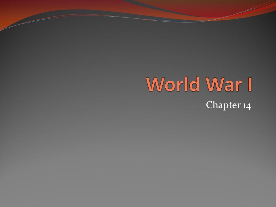 World War I Chapter 14